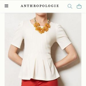 Anthropologie Postmark Georgia purple peplum shirt